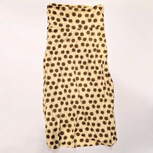 LuLaRoe Maxi Skirt, Sunflower Print - L